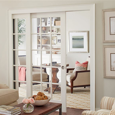 Create grand, open living spaces with unique pocket door frames