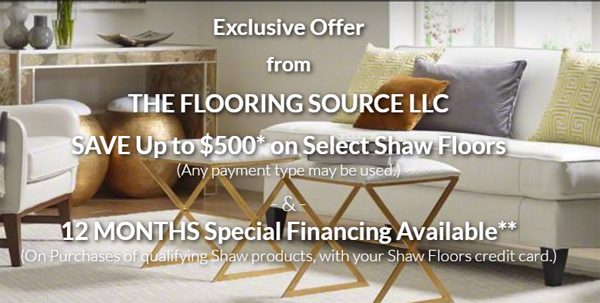 The Flooring Source - Shaw flooring financing