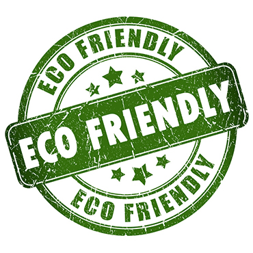ECO FRIENDLY..WE BELIEVE IN BEING GREEN