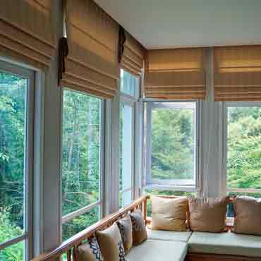 Roman Shades Have The Look And Feel Of Draperies But Are As Practical A Cellular Blind Woven Fabric That Can Be Raised Or Lowered Like