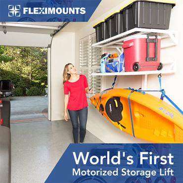Fleximounts Announces Presale of World's First Motorized Garage Wall Shelves